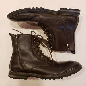 Robert Wayne Lace Up & Dual Zippers Ankle Boots